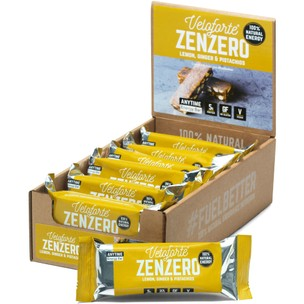 Veloforte Zenzero Natural Energy Bar Box Of 12 X 62g Bars