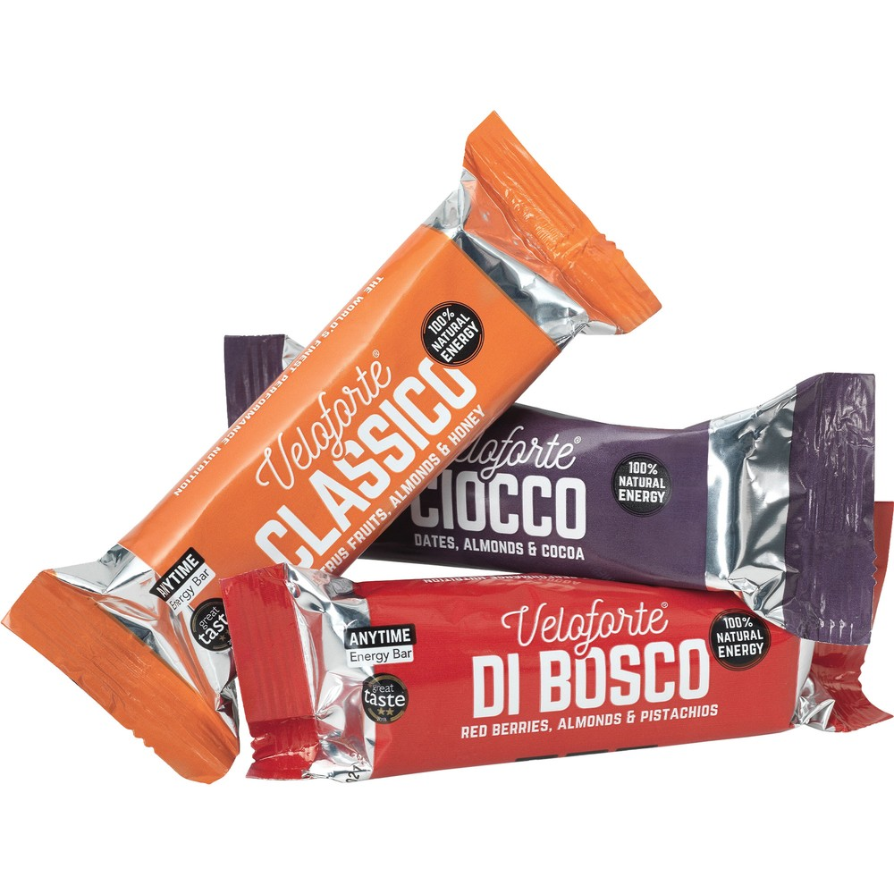 Veloforte 62g Natural Energy Bar Mixed Flavour 3 Pack