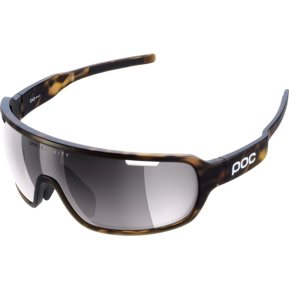 POC Do Blade Sunglasses Tortoise Brown With Violet/Silver Mirror Lens
