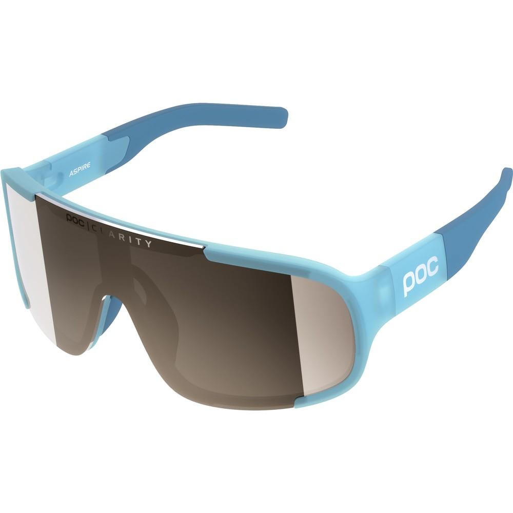 POC Aspire Sunglasses Basalt Blue With Brown/Silver Mirror Lens