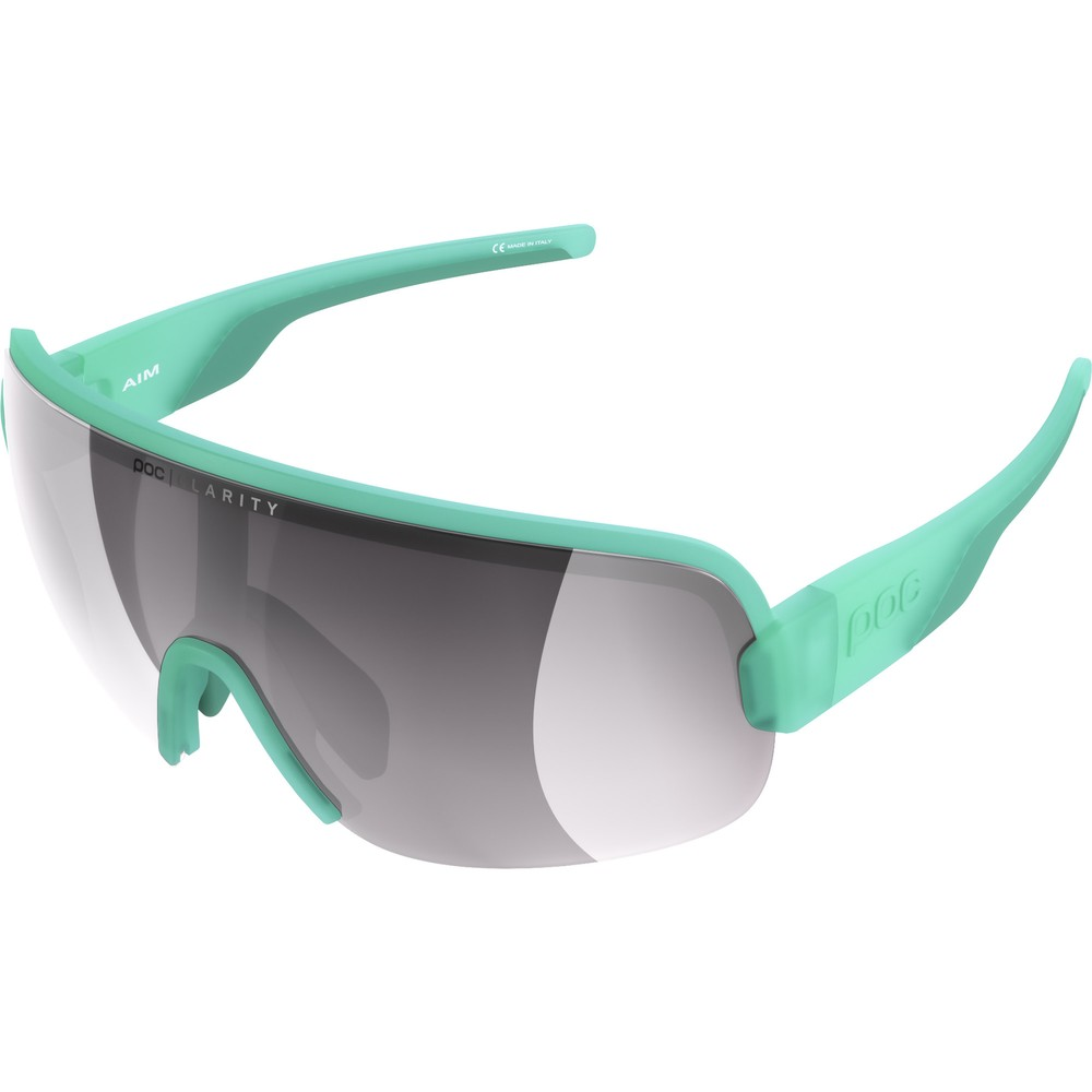 POC Aim Sunglasses Fluorite Green With Violet/Silver Mirror Lens