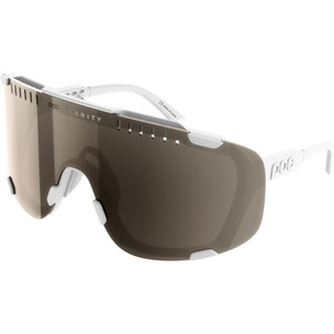 POC Devour Sunglasses Hydrogen White With Brown/Silver Mirror Lens