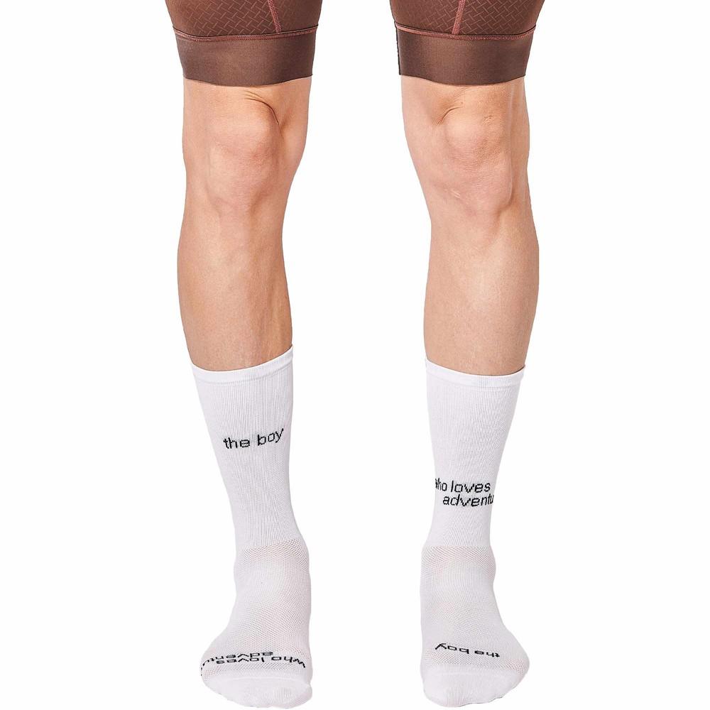 FINGERSCROSSED The Boy Who Loves Adventure Socks