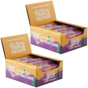 Tribe Triple Decker 2x Boxes Of 12 Bars