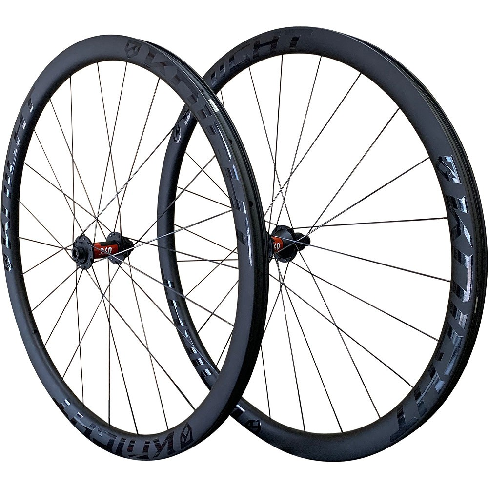 Knight Composites 35 Tubeless Aero Carbon Clincher Disc DT Swiss 240 Wheelset 2021