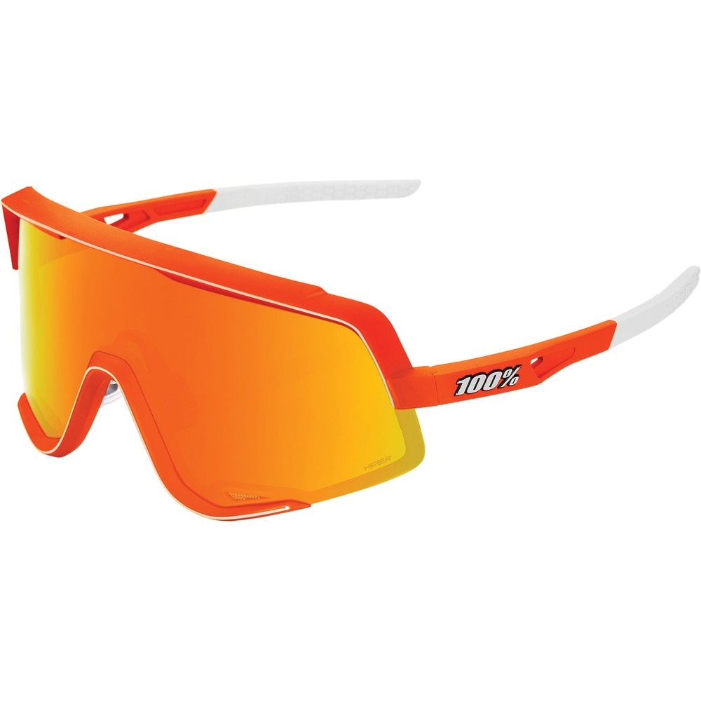 100% Glendale Sunglasses With HiPER Red Multilayer Mirror Lens