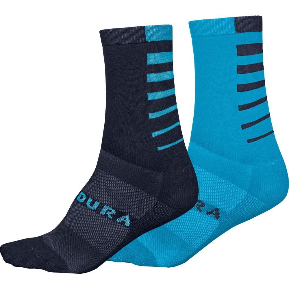 Endura Coolmax Stripe Socks (Twin Pack)