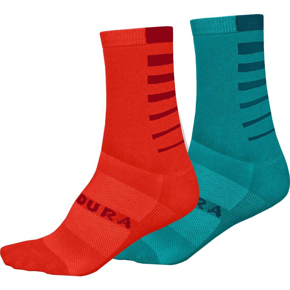 Endura Coolmax Stripe Womens Socks (Twin Pack)