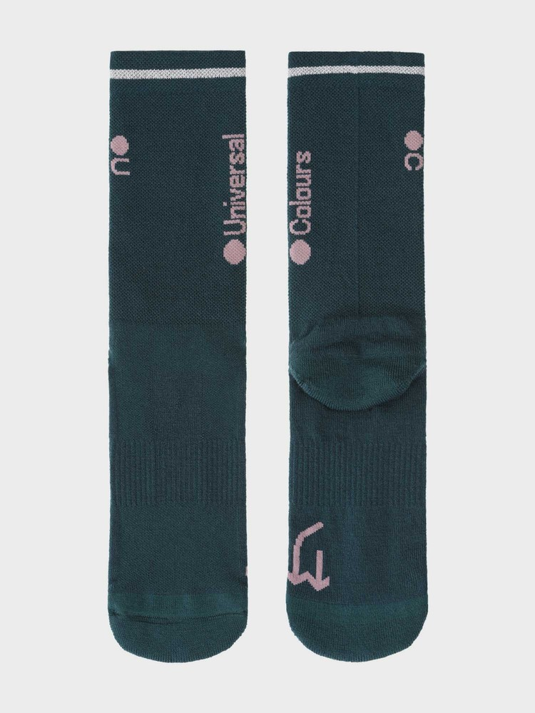 Mono Merino Socks Spruce Green