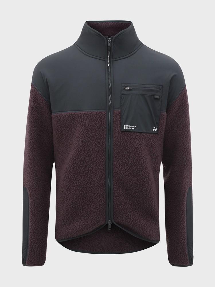 Mono Fleece Unisex Jacket Basalt Purple