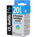 Genuine Innovations 20G Threaded CO2 Cartridges 6 Pack