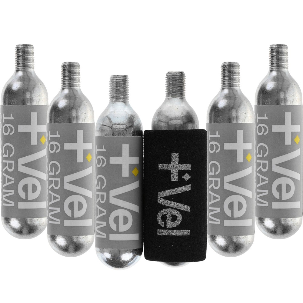Vel 16g Threaded CO2 Cartridges 6 Pack