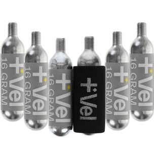Vel 16g Threaded CO2 Cartridges 6 Pack