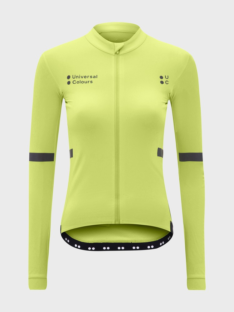 Mono Long Sleeve Women's Jersey Glam Lime Green