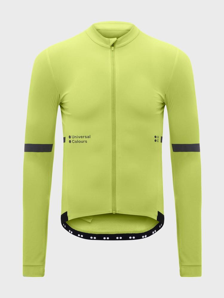 Mono Long Sleeve Men's Jersey Glam Lime Green
