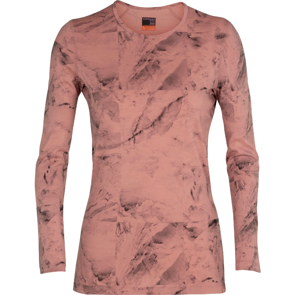 Icebreaker Nature Dye Oasis Womens Long Sleeve Base Layer Top