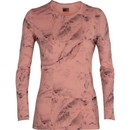 Icebreaker Nature Dye Oasis Womens Long Sleeve Base Layer Top