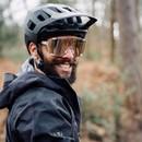 POC Devour Sunglasses Hydrogen White With Brown/Silver Mirror Lens