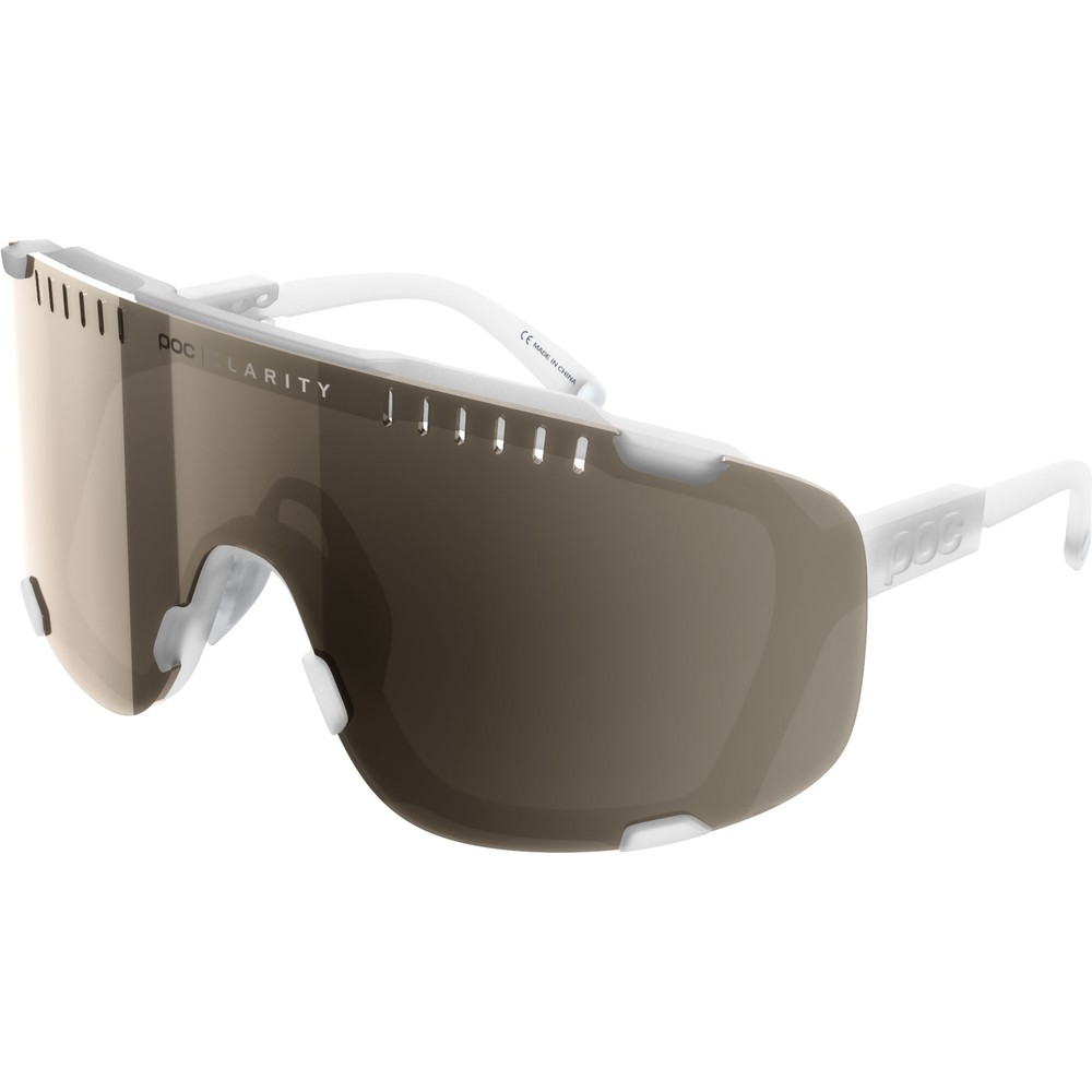 POC Devour Sunglasses Transparent Crystal With Brown/Silver Mirror Lens