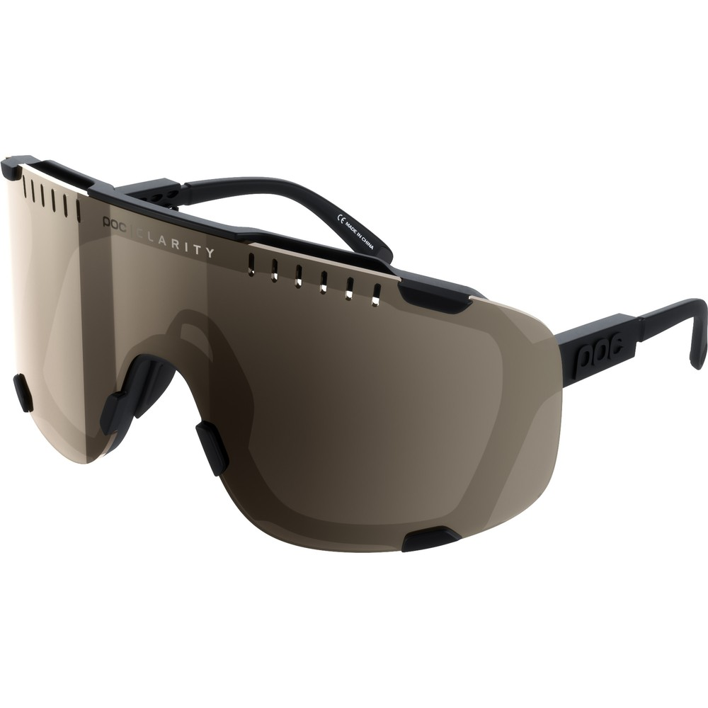 POC Devour Sunglasses Uranium Black With Brown/Silver Mirror Lens