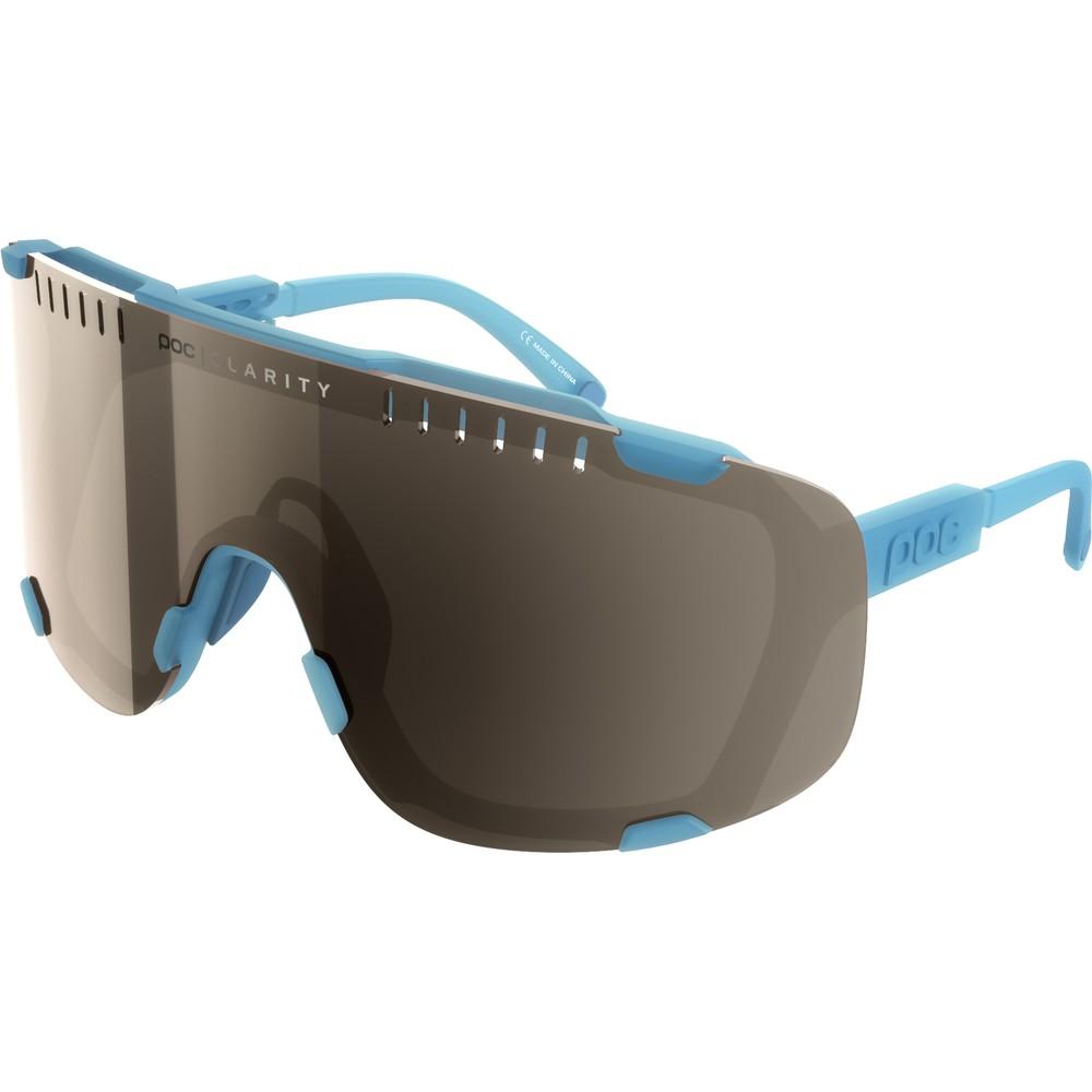 POC Devour Sunglasses Basalt Blue With Brown/Silver Mirror Lens