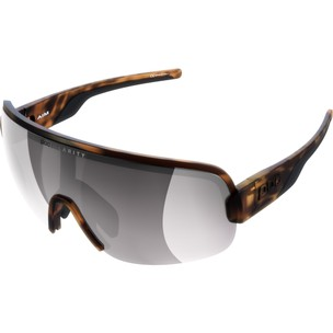 POC Aim Sunglasses Tortoise Brown With Violet/Silver Mirror Lens