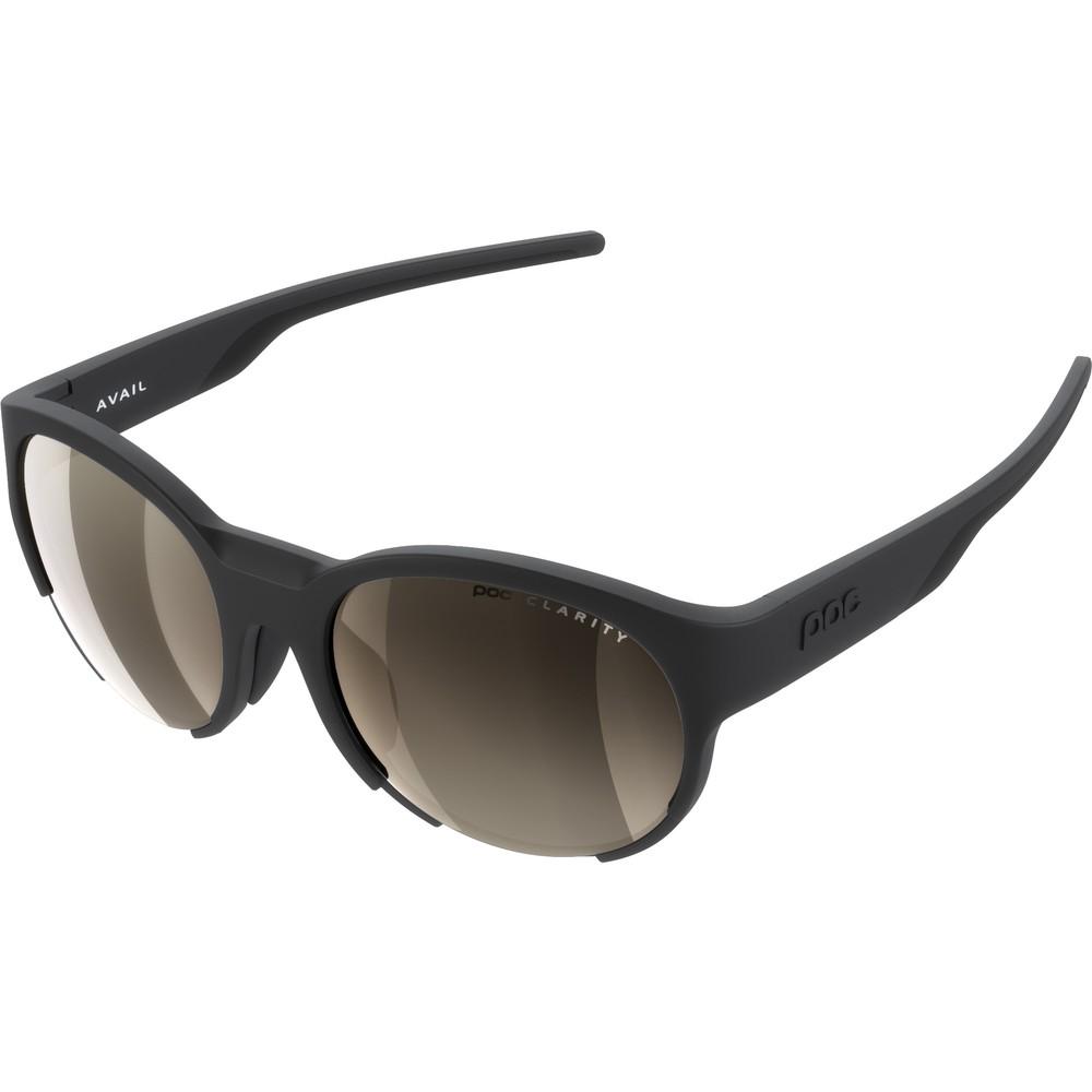 POC Avail Sunglasses Uranium Black With Brown/Silver Mirror Lens