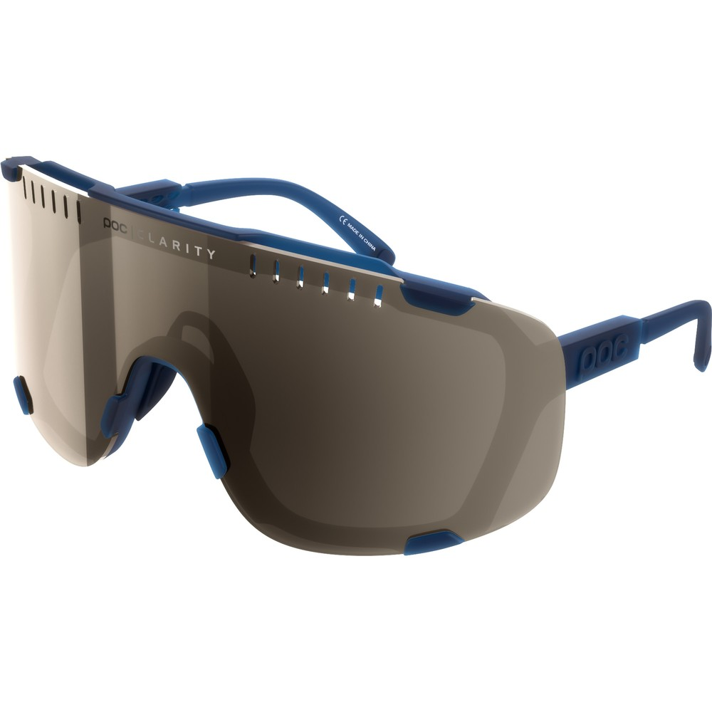 POC Devour Sunglasses Lead Blue With Brown/Silver Mirror Lens
