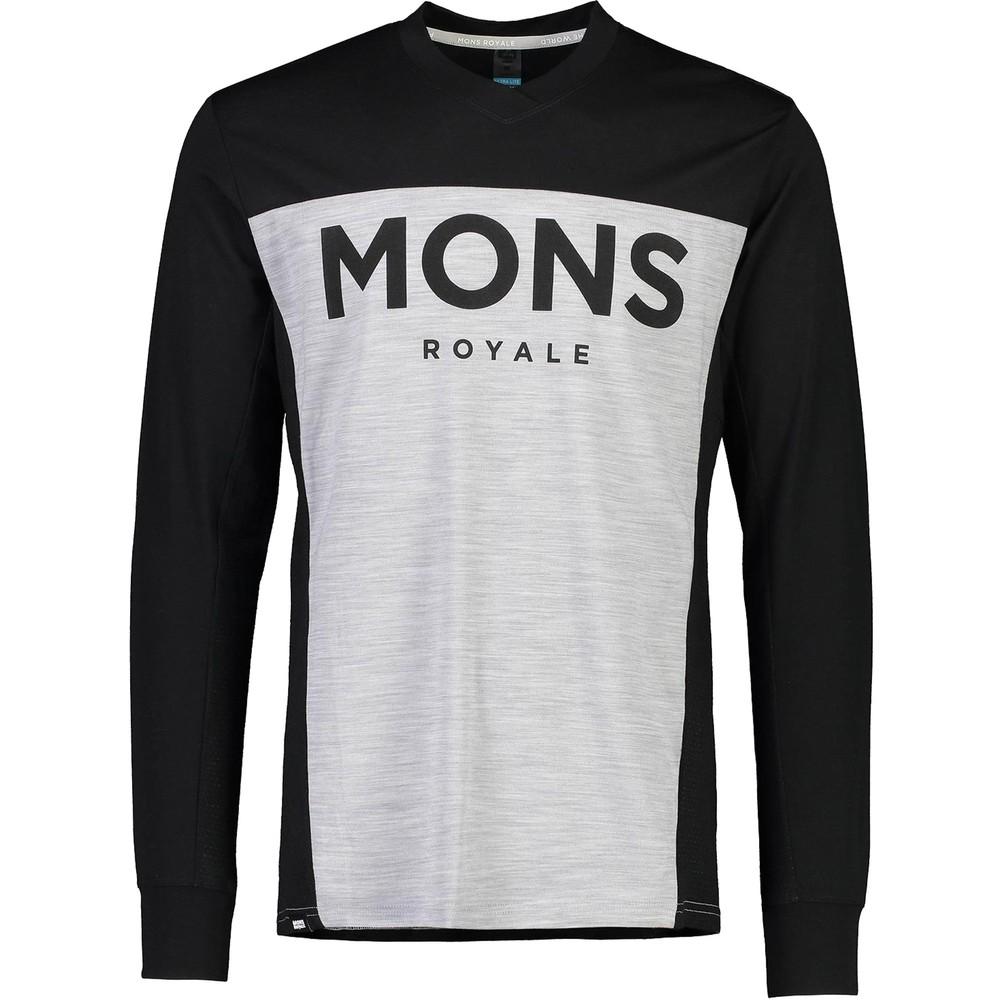Mons Royale Redwood Enduro Long Sleeve V-Neck Tee