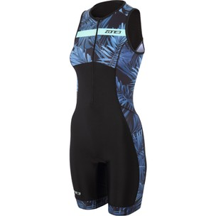 Zone3 Activate Plus Tropical Palm Womens Sleeveless Trisuit