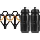 Vel RL Carbon Bottle Cages & 500ml Bottles Bundle