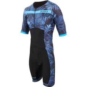 Zone3 Activate Plus Tropical Palm Short Sleeve Trisuit