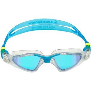 Aqua Sphere Kayenne Goggles With Blue Titanium Mirror Lenses