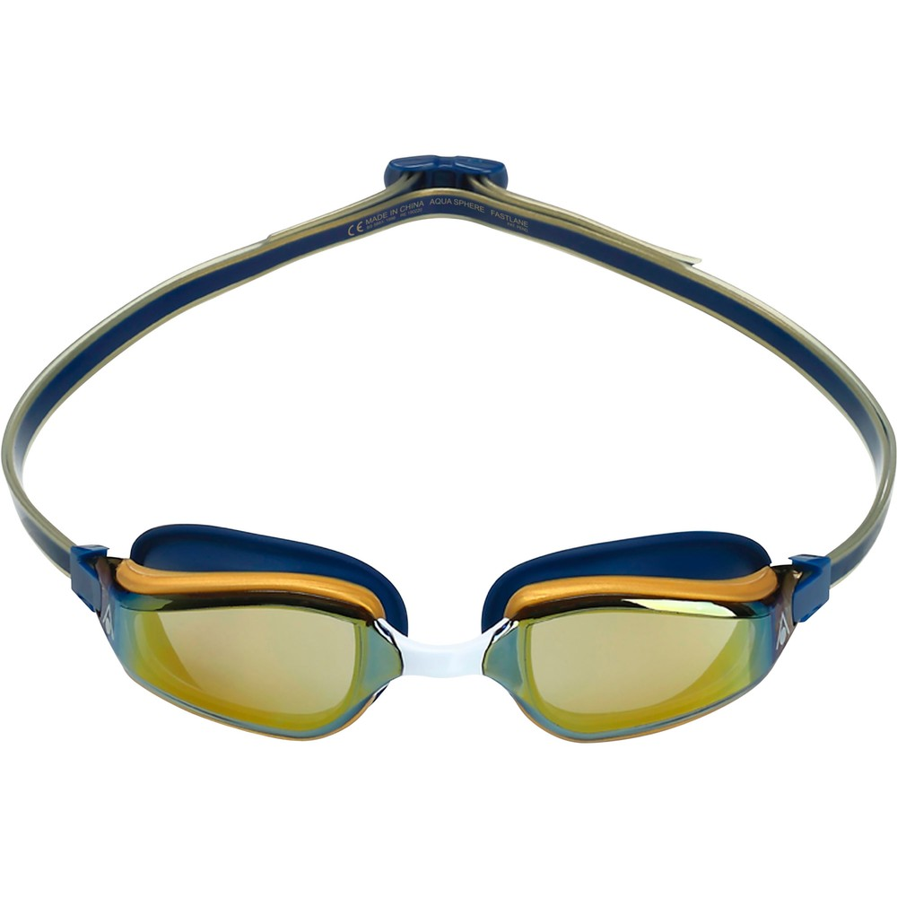 Aqua Sphere Fastlane Goggles With Gold Titanium Mirror Lenses