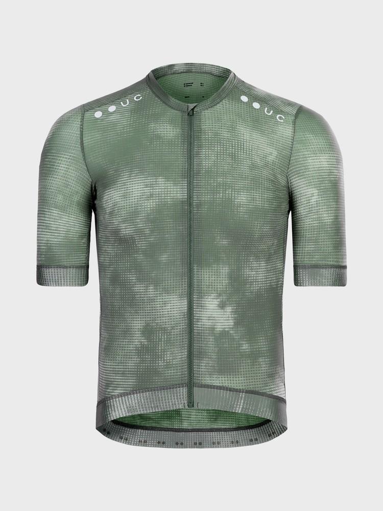 Chroma Grid Men's Short Sleeve Jersey Canopy Green