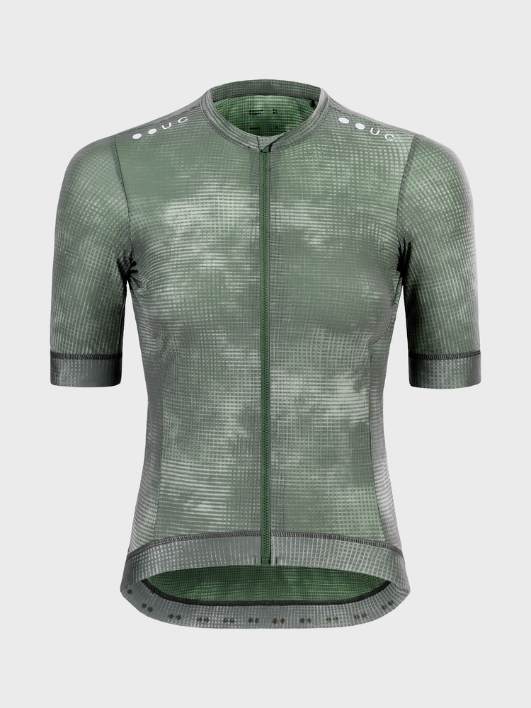 Chroma Grid Women's Short Sleeve Jersey Canopy Green