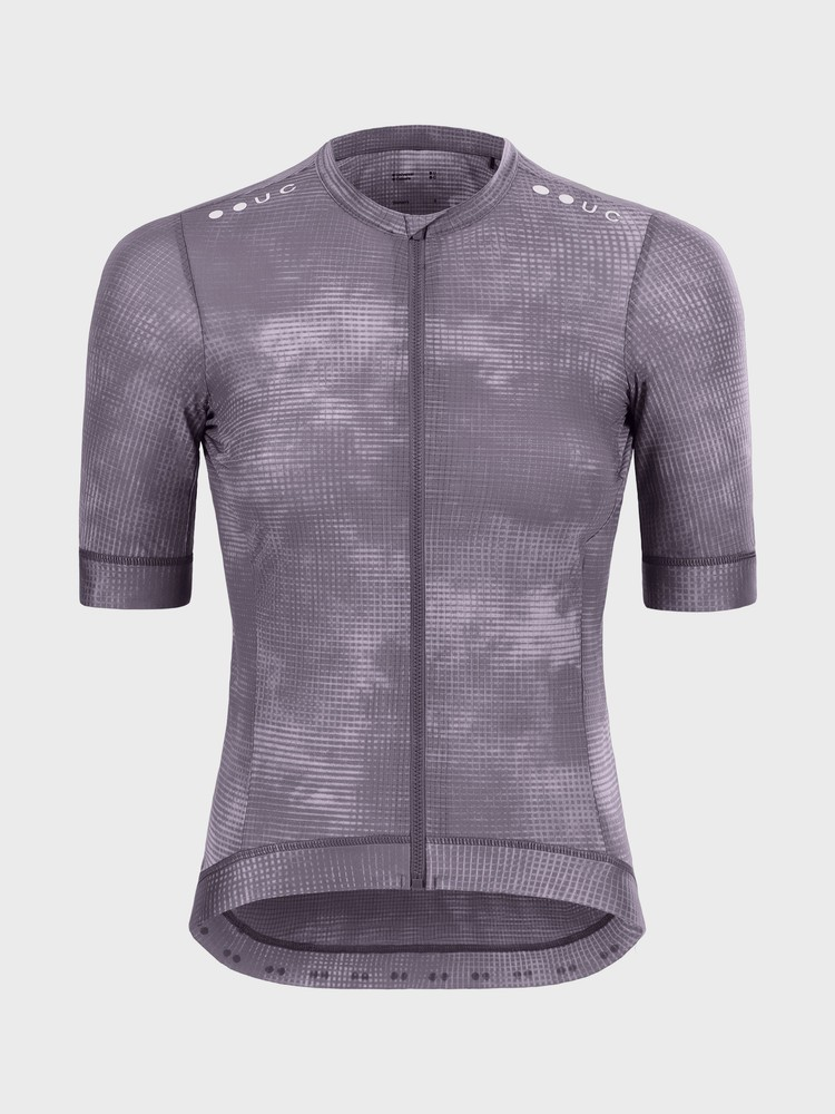 Chroma Grid Women's Short Sleeve Jersey Thistle Purple