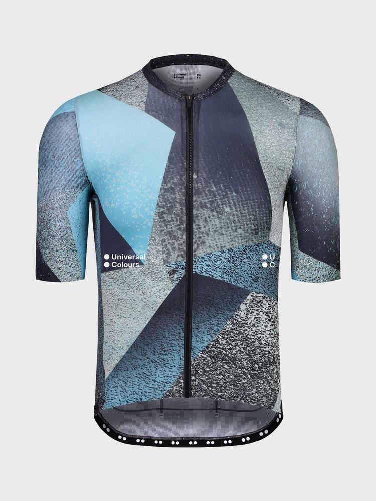 Spectrum Polygon Men's Short Sleeve Jersey Blue