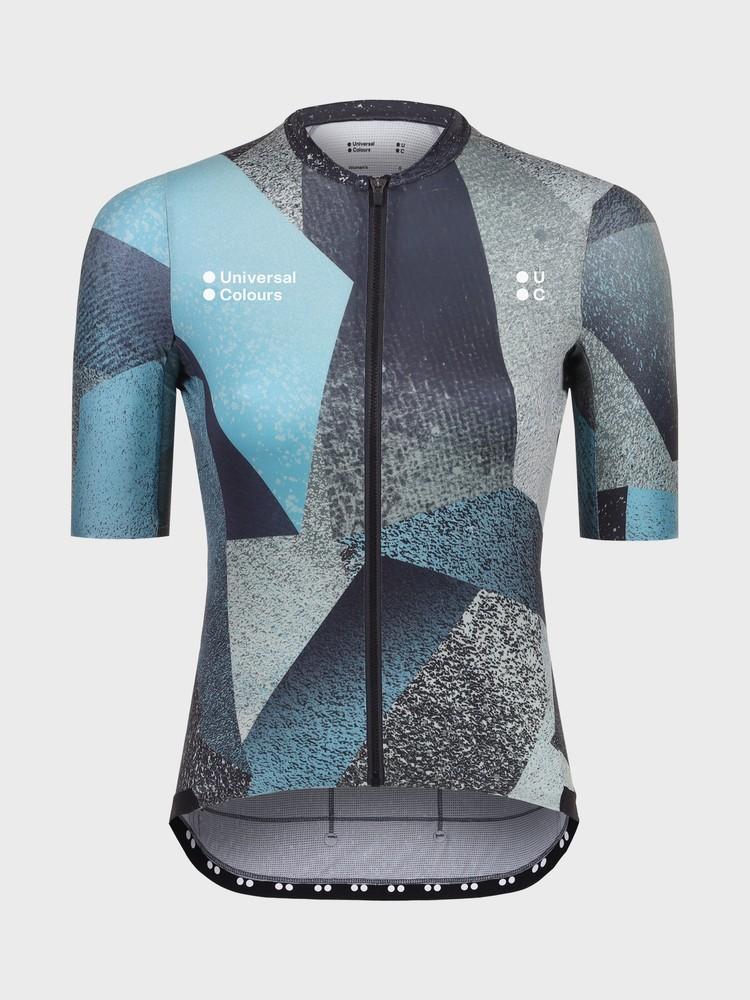 Spectrum Polygon Women's Short Sleeve Jersey Blue