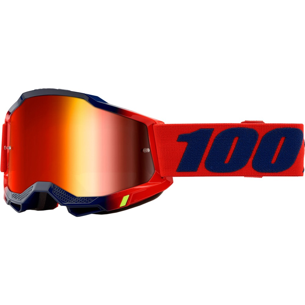 100% ACCURI 2 Goggles With Red Mirror Lens