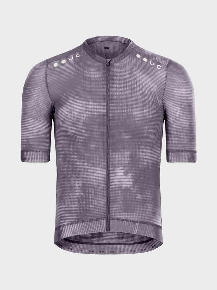 Chroma Grid Men's Short Sleeve Jersey Thistle Purple