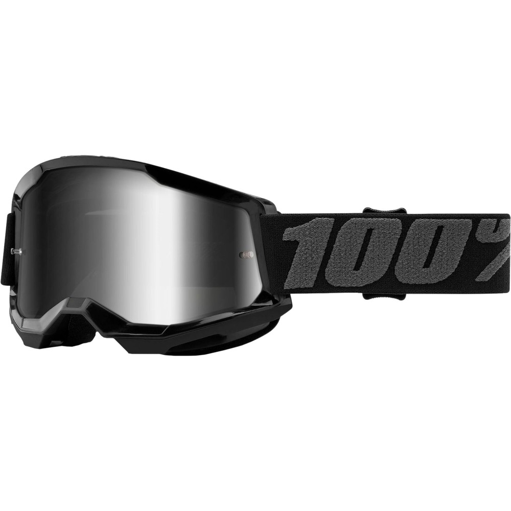 100% STRATA 2 Goggles With Silver Mirror Lens