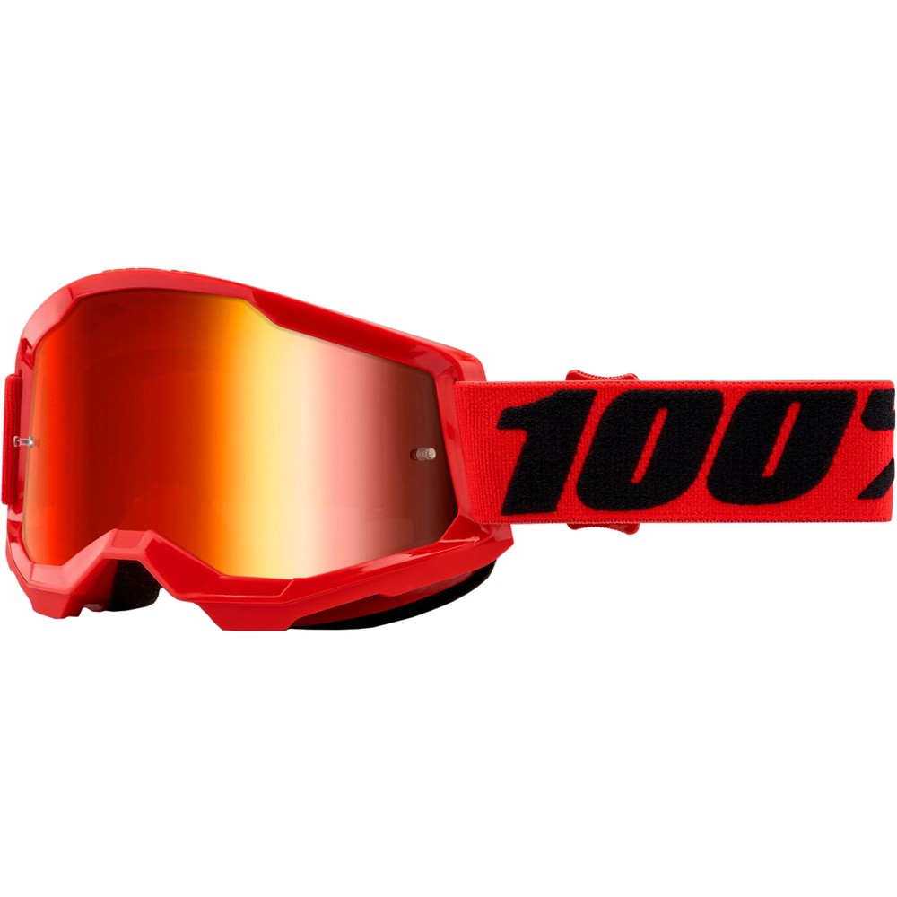 100% STRATA 2 Goggles With Red Mirror Lens