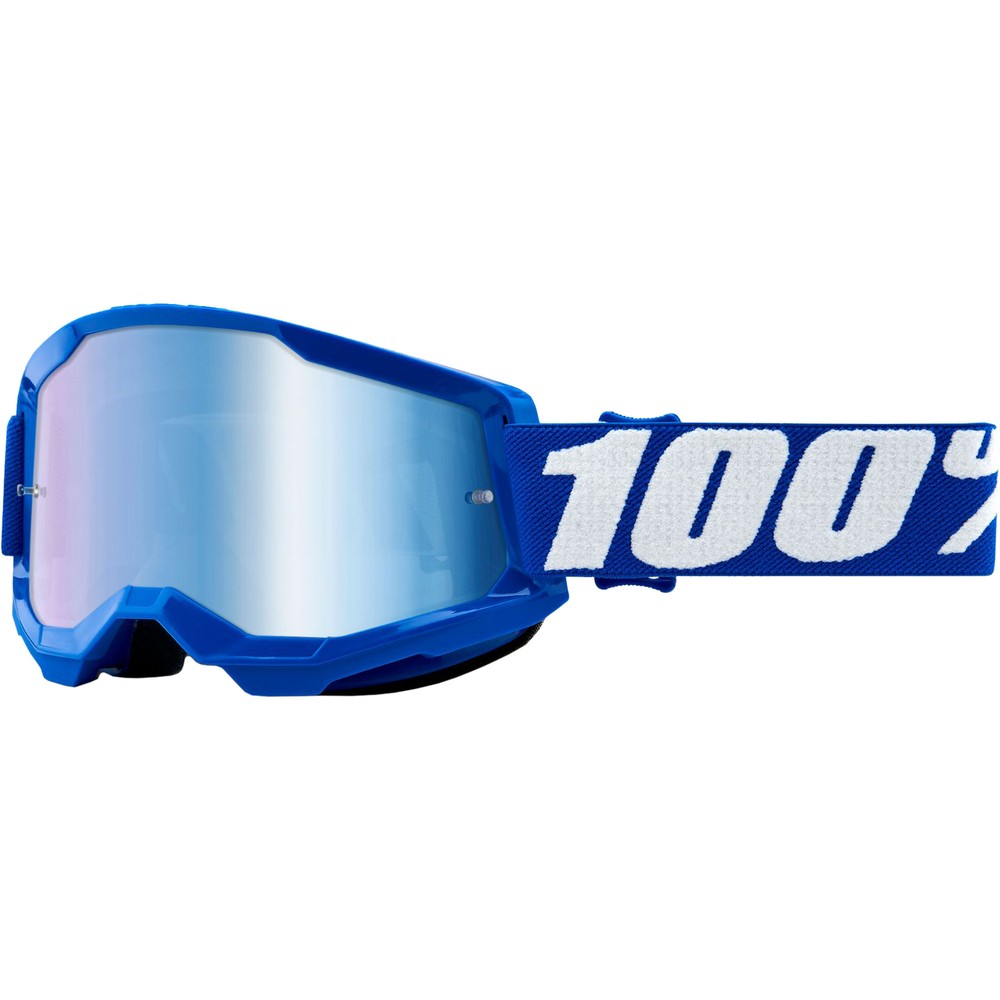 100% STRATA 2 Goggles With Blue Mirror Lens