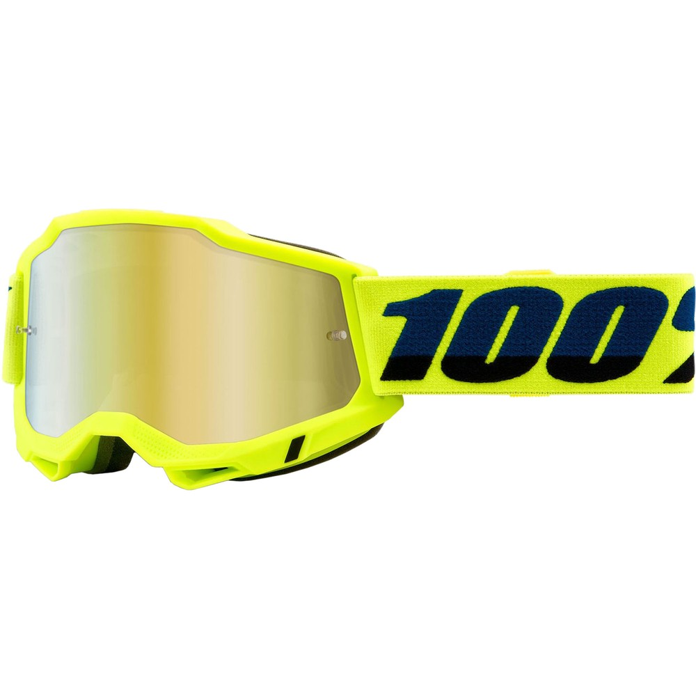 100% ACCURI 2 Goggles With Gold Mirror Lens