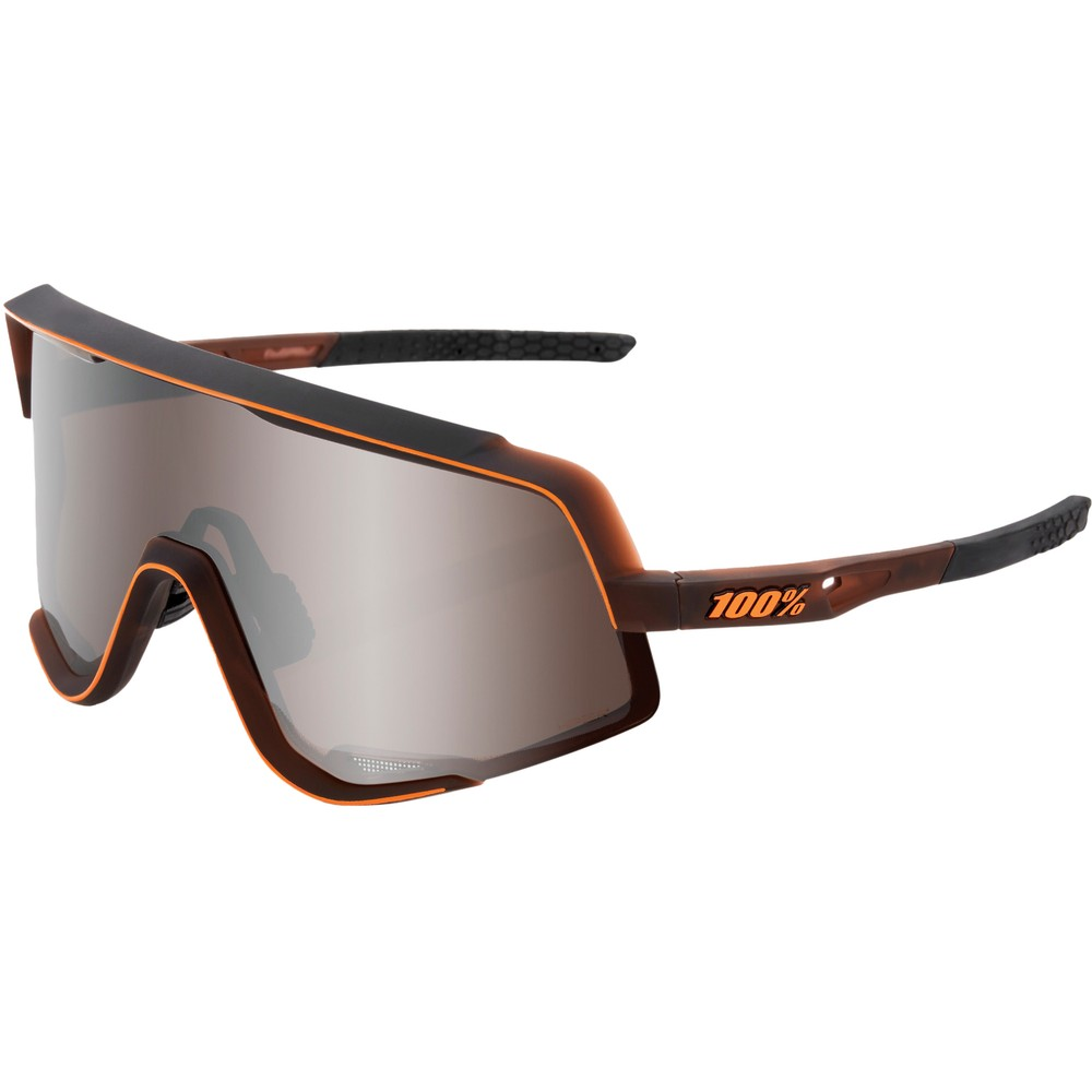 100% Glendale Sunglasses With HiPER Silver Mirror Lens
