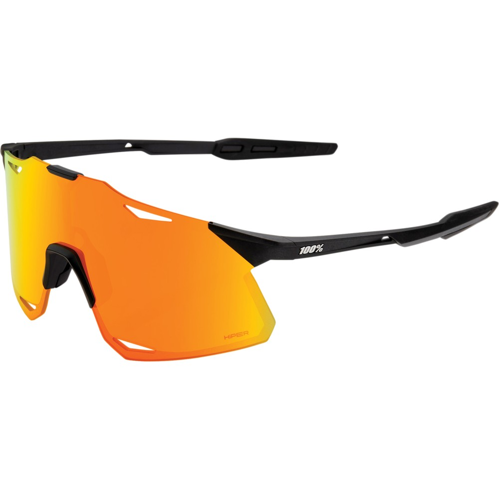 100% Hypercraft Sunglasses With Red HiPER Multilayer Mirror Lens