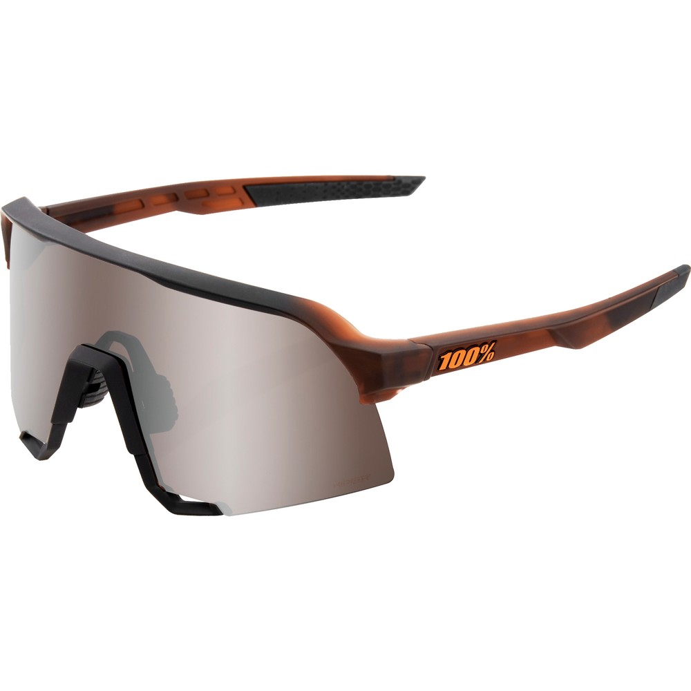 100% S3 Sunglasses With HiPER Silver  Lens