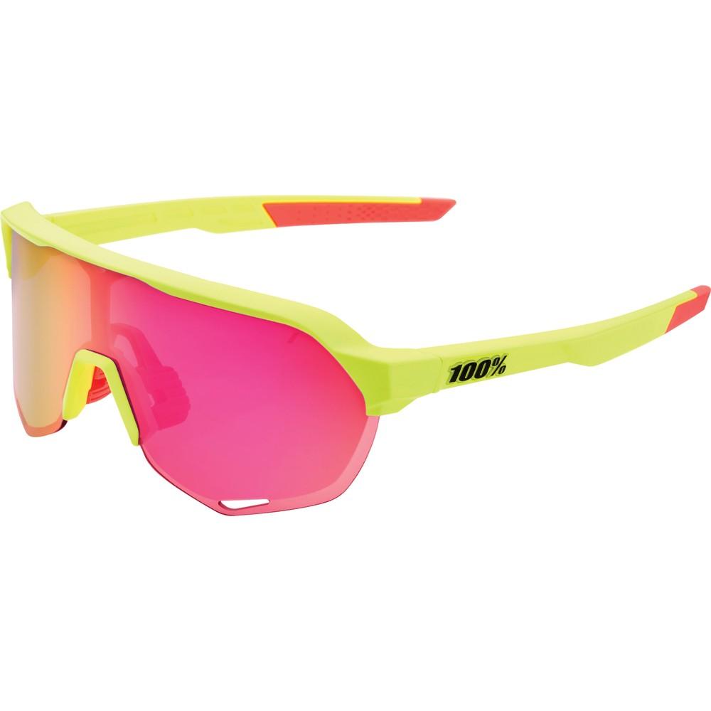 100% S2 Sunglasses With Purple Mirror Lens