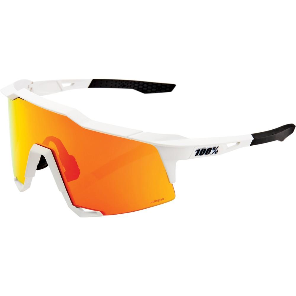 100% Speedcraft Sunglasses With HiPER Red Multilayer Mirror Lens